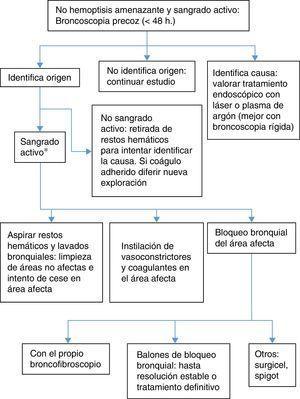 Algoritmo de broncoscopia en la hemoptisis no amenazante.