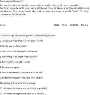 Cuestionario Disnea-12: traducción al español.