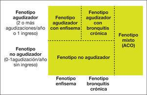 Fenotipos de la EPOC en GesEPOC. ACO: solapamiento asma-EPOC.