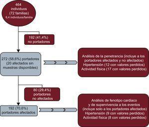 Diagrama de flujo de las inclusión de pacientes en el estudio.