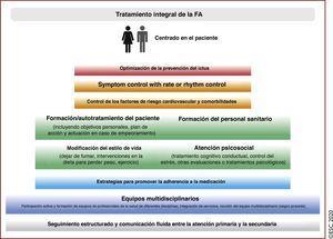Componentes del tratamiento integral de la FA. FA: fibrilación auricular.