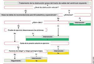 Tratamiento de la obstrucción grave del tracto de salida del ventrículo izquierdo. EA: estenosis aórtica; EAsupra: estenosis aórtica supravalvular; <span class=