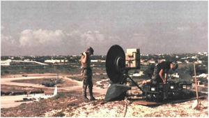US Army satellite radio system in Somalia – Operation Restoring Hope (1992). Source: Restoring Hope – History Division – United States Marine Corps.84