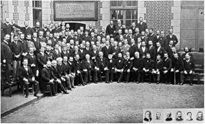 Dermatologists participating in the first International Congress of Dermatology and Syphilology – Paris (1889). Source: Collection le Musée de L'hôpital St Louis.54