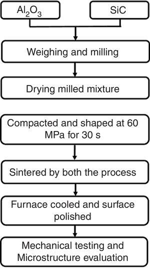 Process flow chart for sample preparation.