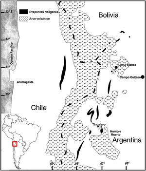Location of the boron deposit, Tincalayu, Salta, Argentina.
