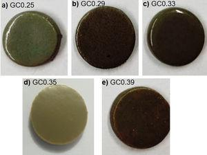 Appearance of the sintered samples.