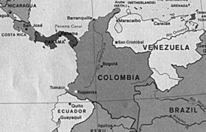 Mapa que muestra la ubicación de las ciudades de Maracaibo, Caracas y San Cristóbal (Venezuela), y Tumaco y Tuquerres (Colombia).