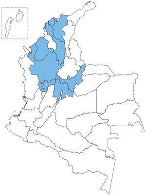 Regiones participantes en el Registro Nacional de EII.