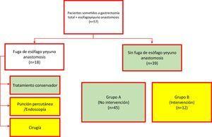 Proceso de selección y asignación de grupos de los pacientes incluidos en el estudio.