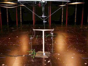 Modelo de una pila aislada para ensayo de viento.