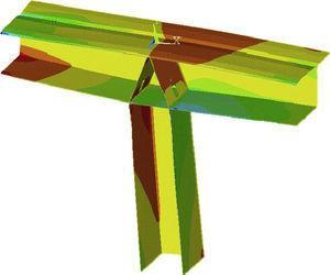 Modelo de elementos finitos de la conexión tablero pila.