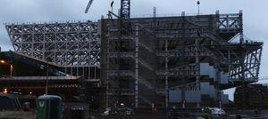 Vista general del bloque 2 en construcción.