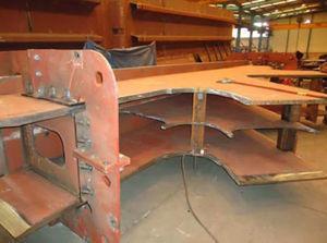 Vista de fabricación de un nudo tumbado.