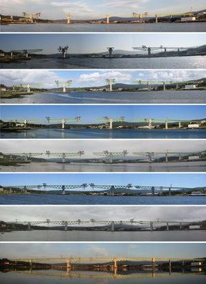 Avance por voladizos sucesivos desde P-5 (a la derecha) y P-8(a la izquierda) y posteriormente desde P-6 y P-7.