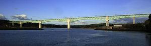 Vista del viaducto concluido.