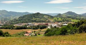 Orona compound setting, a mix of nature and urban development typical of northern Spain.