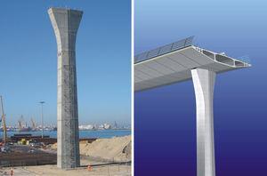 Vista del viaducto de acceso al lado de Puerto Real, canto 3,00m.
