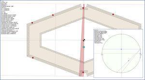 Estado tenso-deformacional de la sección de base de la pila P13 en el momento de inicio de izado de la dovela 11D. En el recuadro pequeño, análisis de tensiones cortantes (roseta extensométrica) en alma de apoyo de tablero sobre P13 en ese mismo instante.