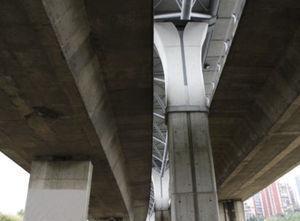 Pila del viaducto Bus-Vao.