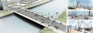 Imágenes virtuales del puente diseñado en fase de proyecto.