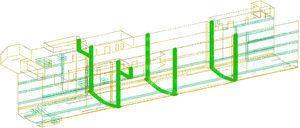 Modelo de cálculo para el análisis longitudinal. Modelización de los muelles.