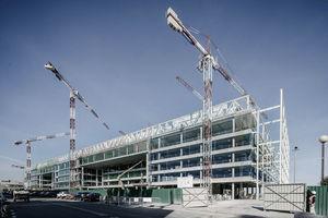 Imagen de las obras con la estructura terminada.