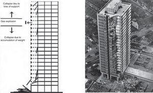 Partial collapse of the Ronan Point tower on May 16th 1968. London [2].