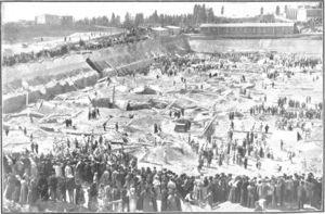 General view of the disaster area (Nuevo Mundo, April 1905).