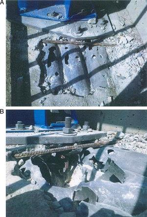 Anomalías en los anclajes de un pretil para un puente rehabilitado.