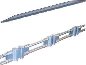 Barrera flexible con dispositivo de acople entre módulos patentado.