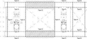 Types of truss for assembly. Blocks A and B.
