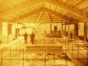 Inside view of the original Serrería.