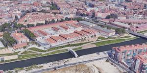Current aerial view of Matadero de Madrid complex.