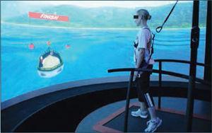 Sistema de realidad virtual inversivo utilizado en rehabilitación. (sharing.govdelivery.com/bulletins/gd/usdod-d7a5f)