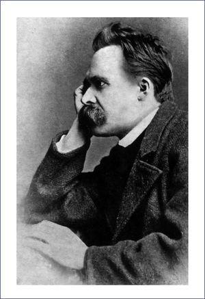 Retrato de Friedrich Nietzsche por el fotografo Gustav Schultze. 1882.