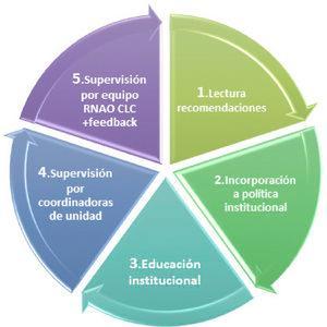 Flujo de implementación Guías de Buenas Prácticas RNAO En Clínica Las Condes