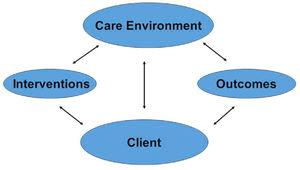 The quality health outcomes model.