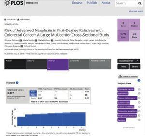 Métricas a nivel de artículo en PLoS Medicine.