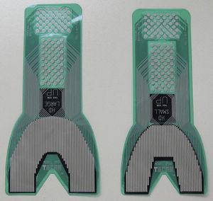Láminas transductoras en los 2 tamaños que provee el fabricante (grande y pequeño).