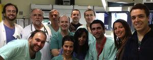 Equipa responsável pela primeira implantação de MitraClip em Portugal.