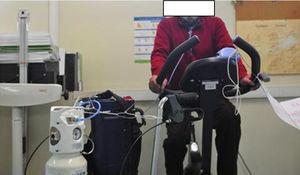 Cycling while on oxygen.