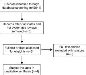 Flow diagram demonstrating the systematic analysis process (Preferred Reporting Items for Systematic Reviews and Meta-Analyses Guidelines flow diagram).