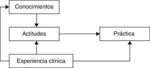 Modelo causal para la práctica con inmovilización terapéutica (adaptado del modelo planteado por Suen et al.21).