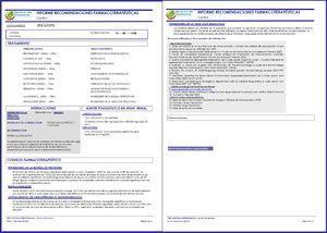 Informe farmacoterapéutico.