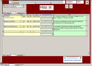 El programa presenta para el análisis de un determinado ERM, en una misma pantalla y para cada paciente: los datos analíticos recientes y más relevantes para la valoración del ERM analizado, los fármacos (con su dosis e intervalo posológico) prescritos, que son susceptibles de originar un posible ERM en el paciente y las recomendaciones para evitar el ERM en cada caso.