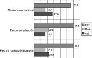 Resultados del Maslach Burnout Inventory (%).