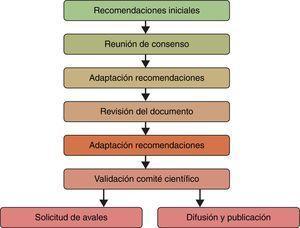 Fases para la elaboración del documento de consenso.