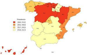 Fuente: Prevalencias estandarizadas de una satisfacción excelente con los servicios recibidos en Atención Primaria de Salud, calculadas a partir de los datos de la Encuesta Europea de Salud en España 2009 (EES 2009).