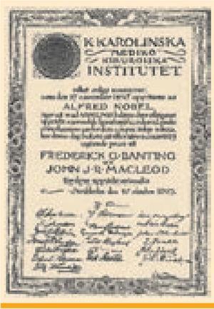 Nobel Prize Diploma to Banting and Macleod